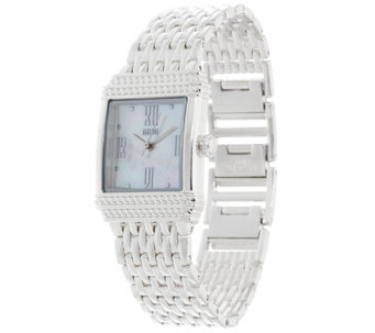Ecclissi Sterling Silver Mother of Pearl Bracelet Watch - J332928