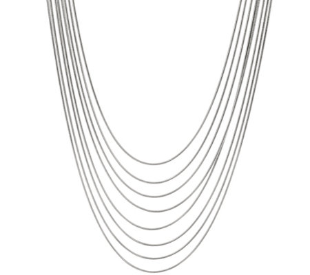 Bronze 8-Strand Snake Chain Necklace by Bronzo Italia