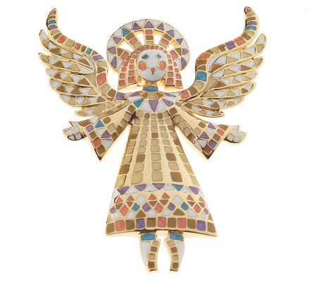 Bob Mackie's Guardian Angel Pin