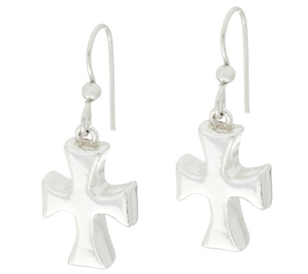 Simon Sebbag Sterling Silver Cross Drop Earrings