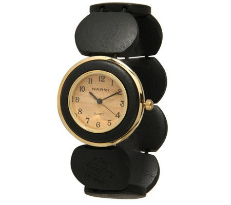 Olivia Pratt Maple Wood Stretch Watch