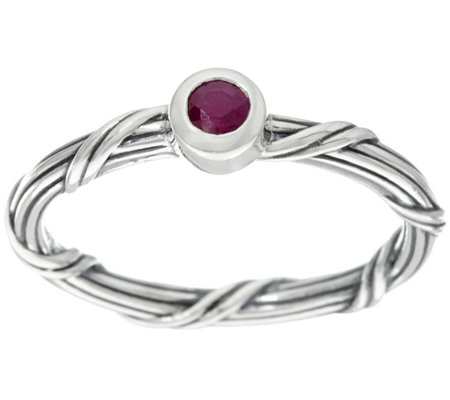Peter Thomas Roth Sterling Ruby Signature Romance Ring