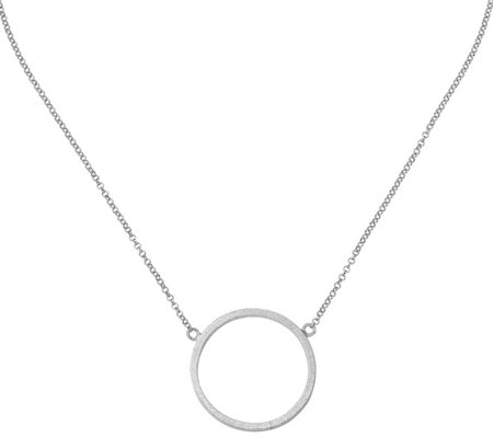 Italian Silver Circle Necklace Sterling, 7.4g