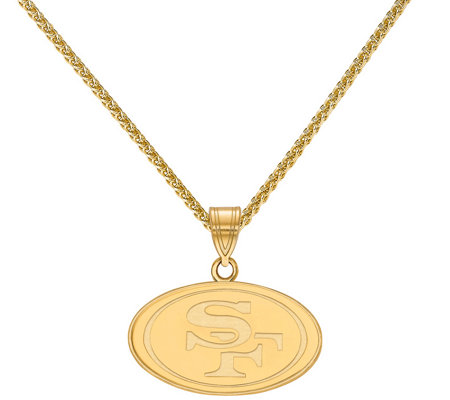 "Sterling & 14K NFL Small Pendant with 18"" Chain"