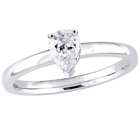 Affinity 14K Gold 1/2 ctttw Pear-Shaped DiamondSolitaire Ring