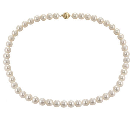 "Honora Cultured Pearl 9.0mm Semi-Round 20"" Necklace, 14K"