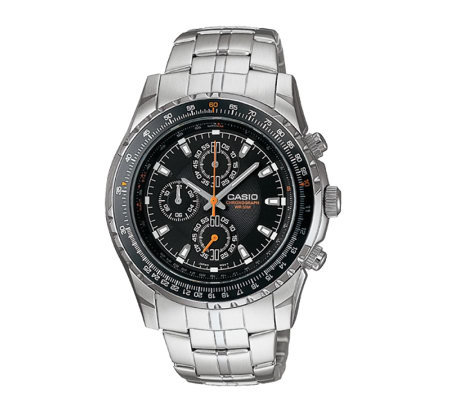 Casio Men's Aviator Slide Rule Bezel Watch