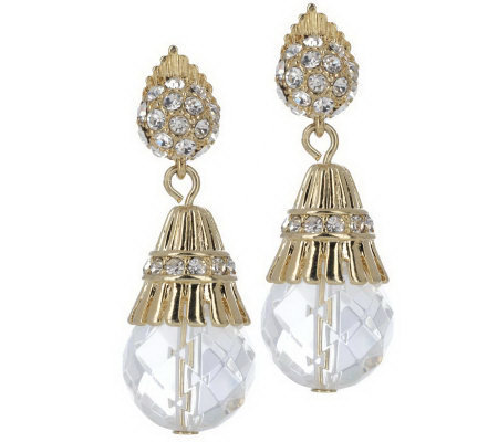 Luxe Rachel Zoe Fancy Fluted Bead Drop Earrings