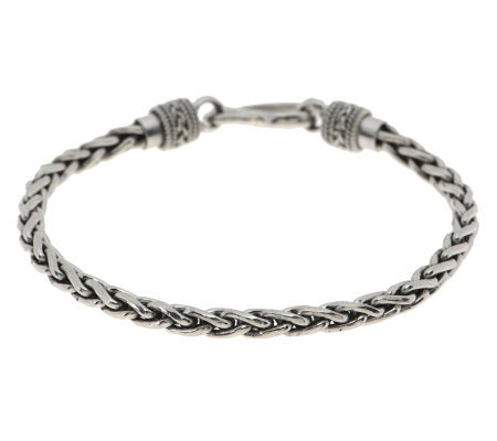 "Suarti Artisan Crafted Sterling 7-1/2"" Paid Braided Bracelet, 14.0g"