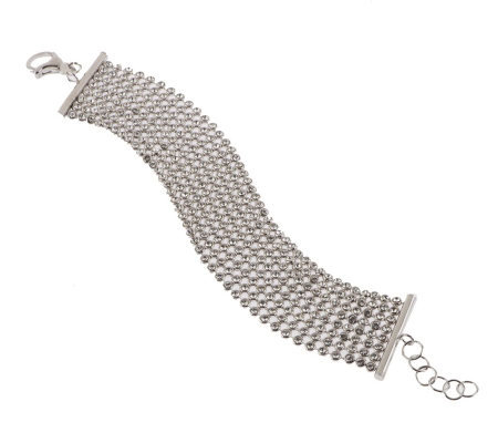 """As Is"" VicenzaSilver Sterling Multi-crystal Bracelet"
