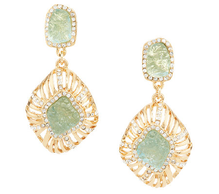 Kara Ross Goldtone Simulated Drusy Earrings