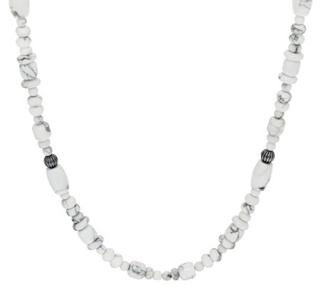 "17"" Gemstone Sterling Bead Necklace by American West"