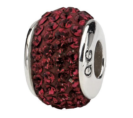 Prerogatives Sterling Crimson Full Swarovski Crystal Bead