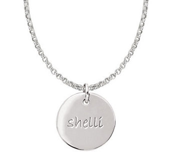 Posh Mommy Sterling Medium Disc Pendant with Chain - J300029