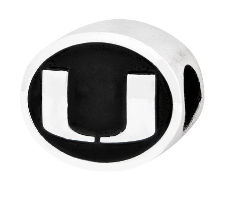 Sterling Silver University of Miami Bead