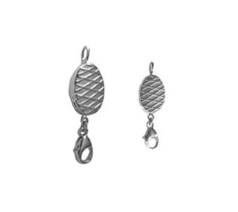 ClickSecure Sterling Set of 2 Self-Locking Jewelry Clasps - J302329