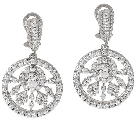 Judith Ripka Sterling 118 Facet 5.30 ct Diamonique Drop Earrings