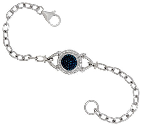 Circle Diamond Bracelet, Sterling, 1/4 cttw, by Affinity