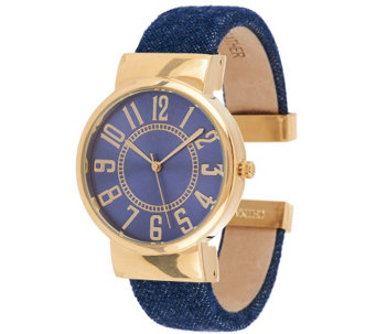 Joan Rivers Classic Denim Bangle Watch - J322729