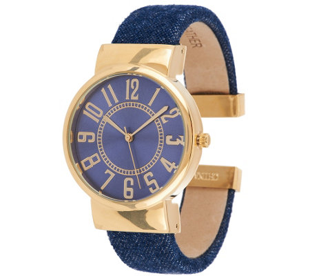 Joan Rivers Classic Denim Bangle Watch