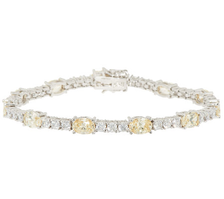 The Elizabeth Taylor Simulated Canary Diamond Tennis Bracelet