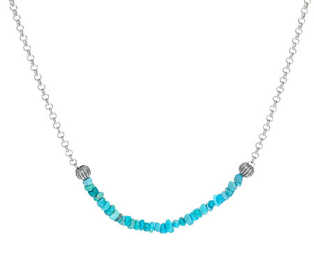 Jennifer Nettles Sterling Silver Gemstone Bead Necklace