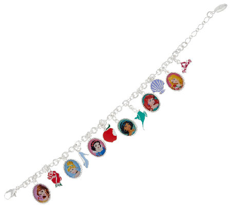 "Disney 6"" Princess Charm Bracelet"
