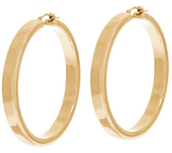 """As Is"" Oro Nuovo 2"" Polished Round Hoop Earrings, 14K - J330729"
