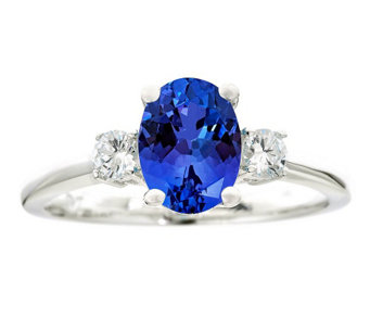 Premier 1.25cttw Tanzanite & 1/5cttw Diamond Ring, 14K - J336229
