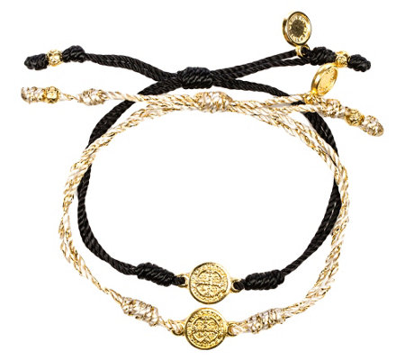 My Saint My Hero Breathe Blessing GoldtoneBracelet Set