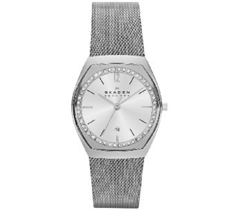 Skagen Women's Stainless Steel Crystal AccentedWatch - J339329