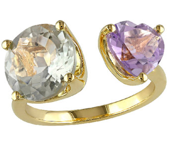 5.00cttw Gemstone Cuff Ring, Sterling/14K Plated - J340329