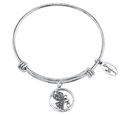 Sterling Watch Over Me Charm Bangle by Extraordinary Life