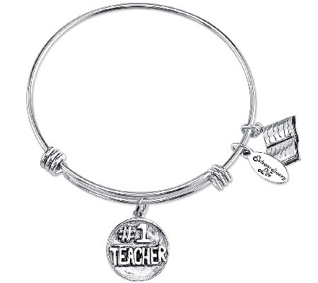 Extraordinary Life Sterling Teacher AdjustableBangle