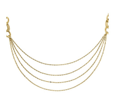 "14K Gold Four Layer Rope 18"" Necklace"