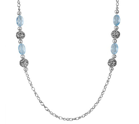"Carolyn Pollack Signature Sterling Blue Topaz 34"" Necklace"