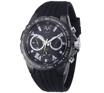 V19.69 Italia Men's Black Watch with Black Rubber Strap - J343929