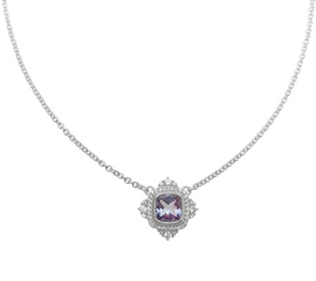 Judith Ripka Sterling Silver 1.75 cttw AmethystNecklace