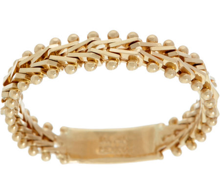 Imperial Gold Wheat Flexible Band Ring, 14K Gold
