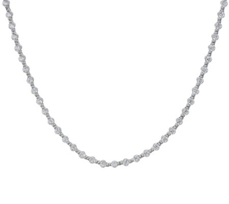 "Diamonique 36"" Tennis Necklace, Sterling"