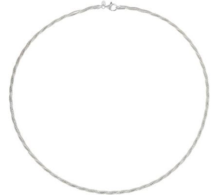 """As Is"" UltraFine Silver 18"" Twisted Omega Necklace, 7.8g"