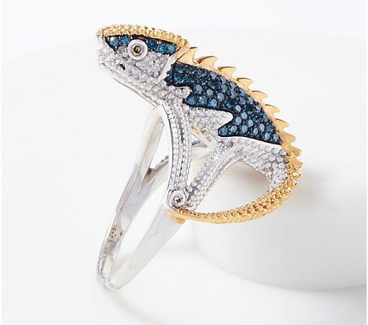 Sterling Silver Polished /& Textured Iguana Pendant