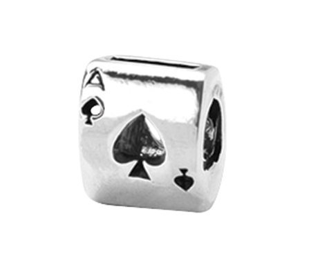Prerogatives Sterling Ace Card Bead