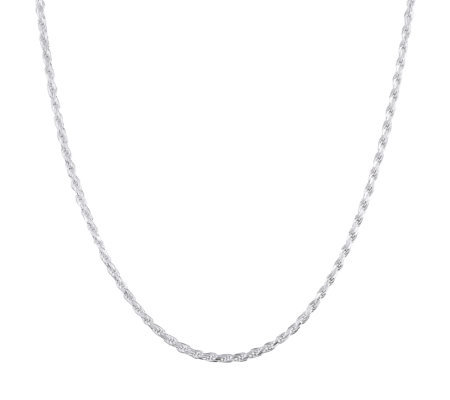 "UltraFine Silver 26"" Rope Chain, 17.5g"
