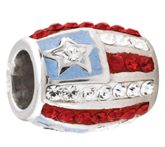 Prerogatives Sterling Crystal Flag Bead - J113230