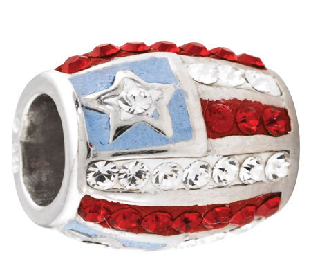 Prerogatives Sterling Crystal Flag Bead