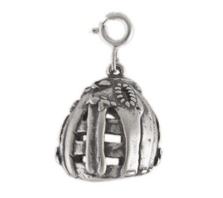 Sterling Baseball Glove Charm