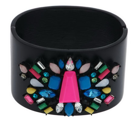 Multi-Shape Couture Crystal Bangle