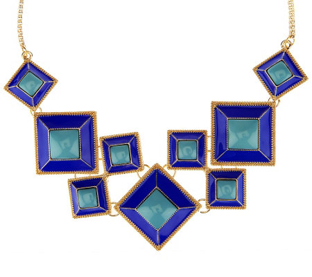 Susan Graver Geometric Statement Necklace