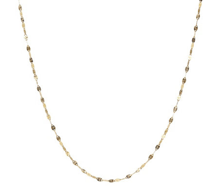 "Milor 20"" Polished Sunray Chain, 14K Gold"